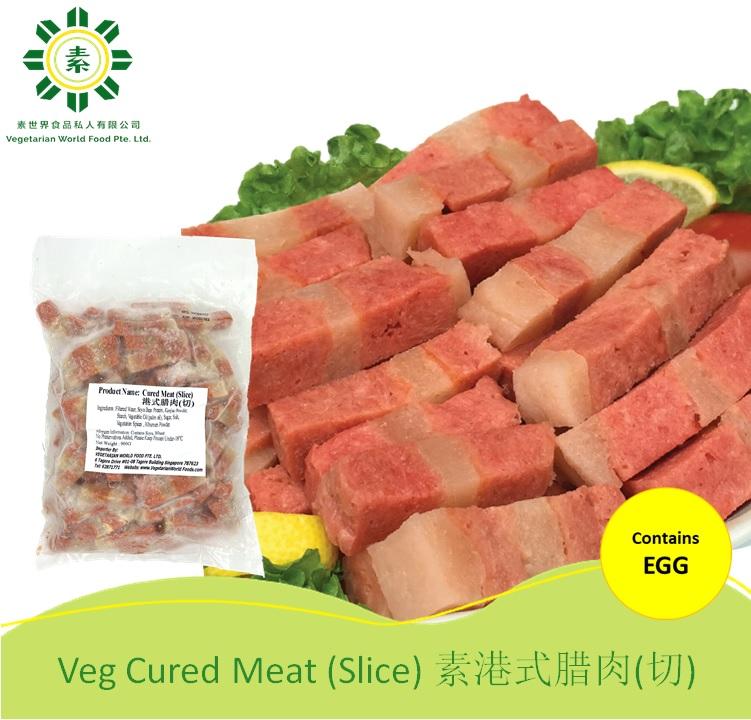 Vegetarian Pork Belly 素港式腊肉切 -0